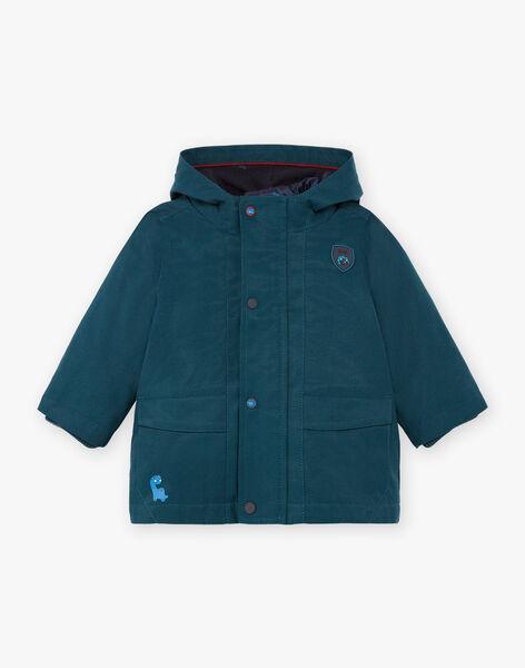 Baby boy emerald green raincoat BIMATHEO / 21H1BGC1IMP608