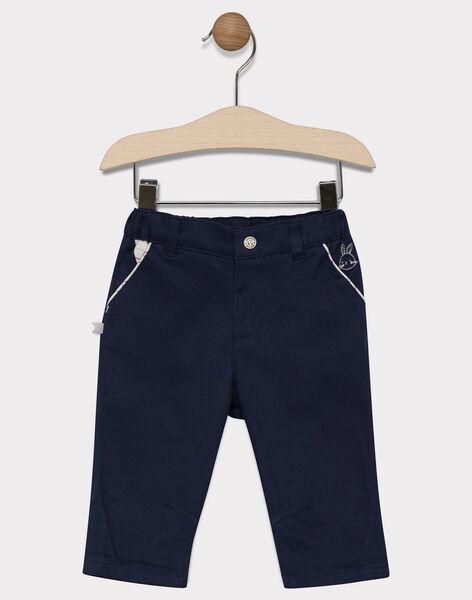 Baby boys' navy trousers SADURIS / 19H1BG31PAN713
