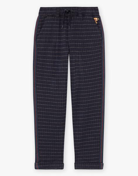 Baby boy blue checkered pants BETAGE / 21H3PG92PAN715