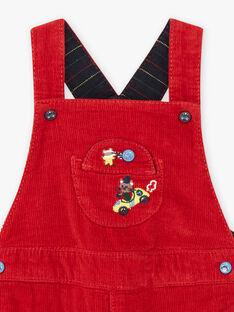 Baby boy red velvet overalls BAPAUL / 21H1BGM1SALF528