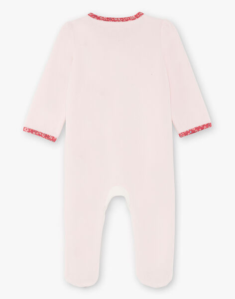 Baby girl pink and white sleep suit BEBIBOU / 21H5BF65GRED327