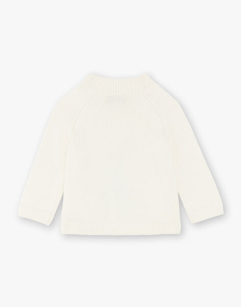Beige sweater with jacquard ZAARVARD / 21E1BG71PUL009
