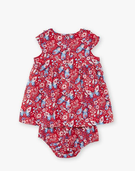 Baby girl red dress ZAFANCHON / 21E1BFB1ROB050
