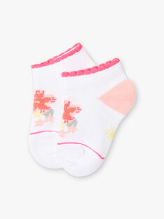 Baby girl white socks with flower jacquard ZASUNDAY / 21E4BFU1SOB000