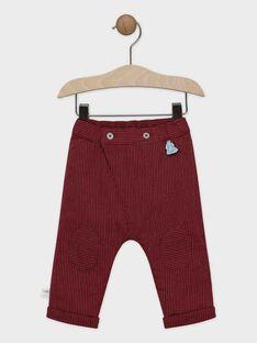 Dark burgundy pants SAORTON / 19H1BGE1PAN503