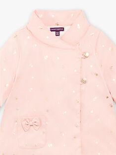 Baby girl pink raincoat BIPALOMA / 21H1BFD1PAR303