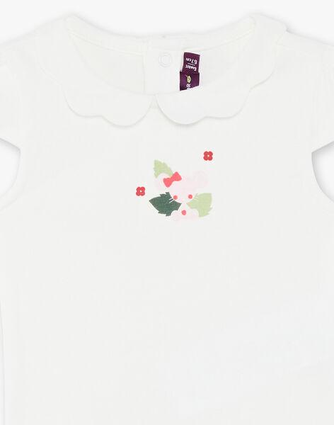 Off white short sleeves bodysuit ZAADELE / 21E1BFJ1BOD001