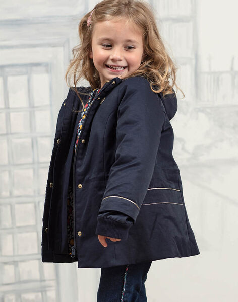 Baby Girl's Navy 3-in-1 Raincoat BLOPRETTE / 21H2PFC2IMP070