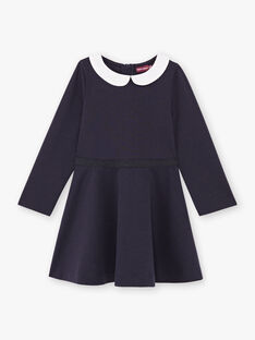 Baby girl's long-sleeved dress with claudine collar BROCOLETTE1 / 21H2PFB4ROBC214