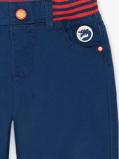 Blue pants with elastic waistband ZAFUNAGE / 21E3PGI1PAN705