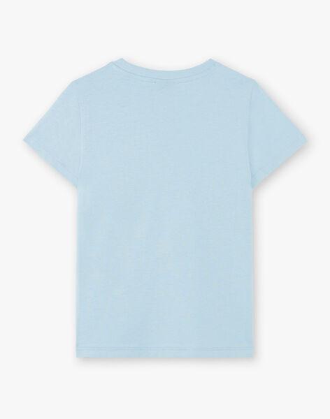 Sky blue T-shirt with surfs patterns ZUZAGE4 / 21E3PGL4TMC020