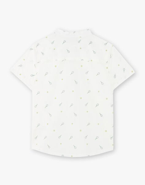 White and green tennis print shirt for boys ZELIAGE / 21E3PGO1CHM001