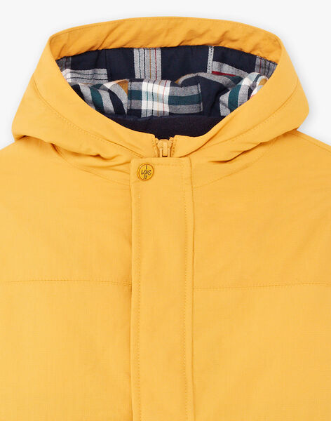 Boy's imperial yellow raincoat with detachable down jacket BARISTAGE / 21H3PGC3IMPB114