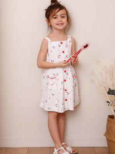 Strawberry print ecru dress ZOLOMETTE / 21E2PFJ1CHS001