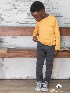 Boy's plain black denim jeans BUXTIAGE1 / 21H3PGB4JEA927