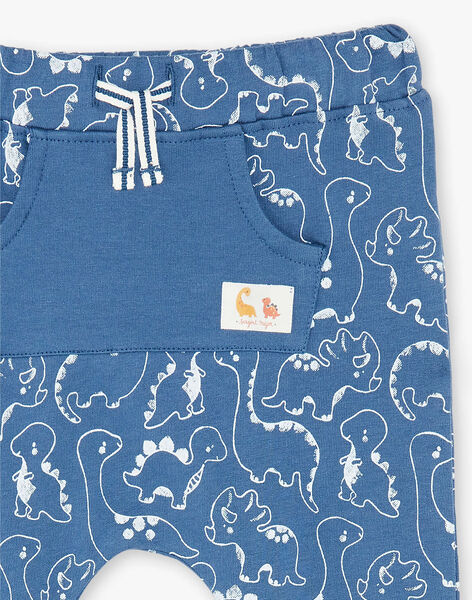 Blue printed jogging pants ZAEMILIO / 21E1BGB1JGBC230