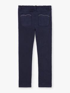 Girl's navy blue pants BROSAETTE1 / 21H2PFB3PANC214