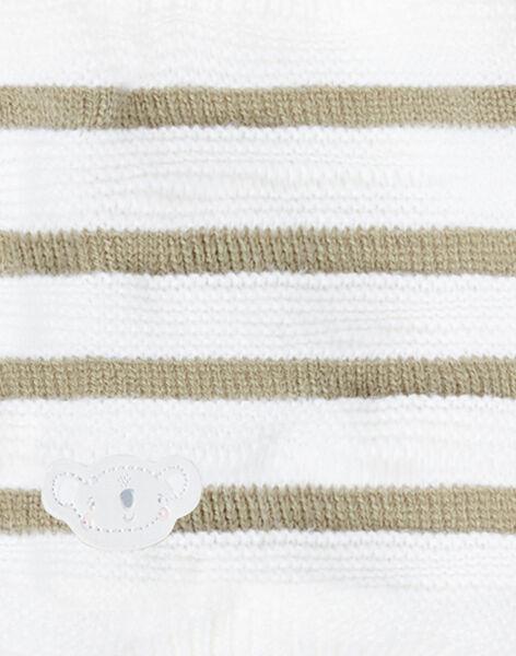 Striped choker ecru khaki ZUBENO / 21E4BGM1SNO604