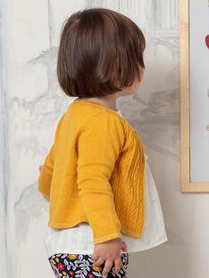 Baby Girl Mustard Yellow Vest BAELOISE / 21H1BF52CAR109