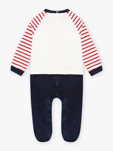 Baby boy striped velour romper BECADET / 21H5BG72GRE050
