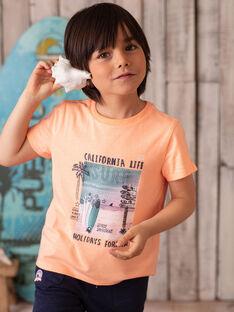 Orange T-shirt printed surf ZOAMAGE / 21E3PGU1TMCD311