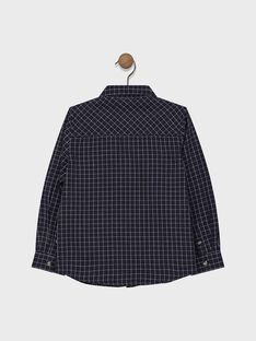 Navy checked SHIRT. SAMEAGE / 19H3PG41CHM070