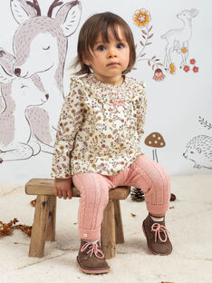 Baby girl's printed blouse and legging set BAISTELLE / 21H1BFJ1ENS001