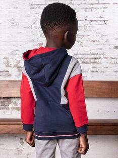 Baby boy navy and grey hoodie BASAGE1 / 21H3PG31JGH070