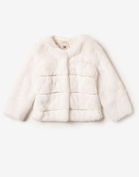Off white faux fur cardigan VRAFORETTE / 20H2PFZ1CAR001