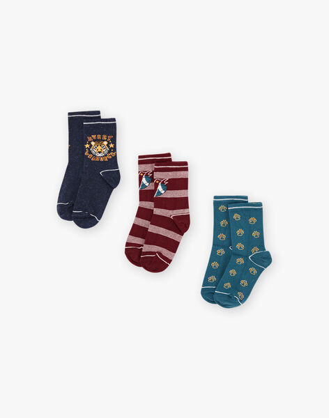 Girl's 3 pairs of matching socks BUNIAGE / 21H4PGB1LC3715