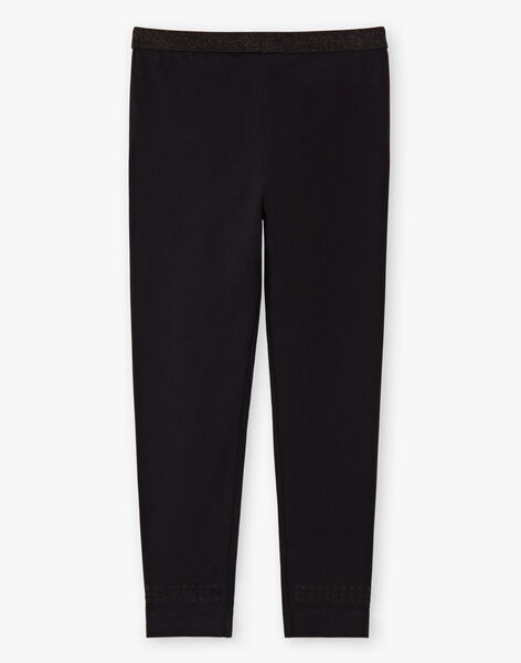 Baby girl's plain black legging with sequin details BRONETTE 2 / 21H4PFB3CTT090