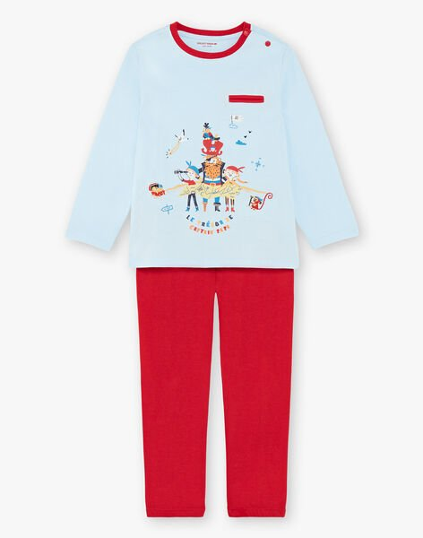 Red and blue pajamas for boys ZECOURAGE / 21E5PG14PYJC218