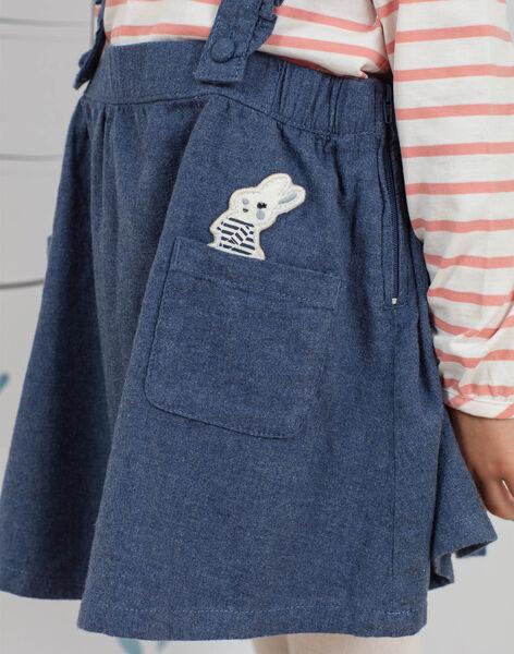 Child girl blue skirt with ruffled straps BYJUPETTE / 21H2PFL1JUP222