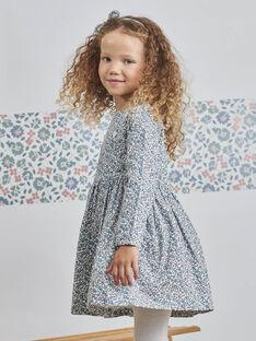 Baby Girl Long Sleeve Floral Print Dress BLADRETTE / 21H2PFO1ROB001