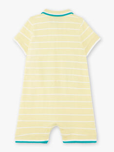 Lemon yellow striped jumpsuit baby boy ZAMATHEO / 21E1BGO1CBLB104