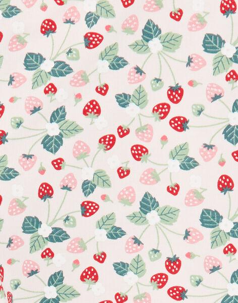 Strawberry print light pink leggings ZOJUETTE / 21E4PFJ1CAL301