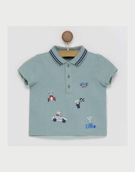 Green Polo shirt RAPAUL / 19E1BGH1POL610