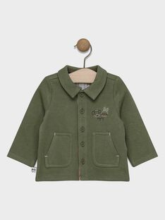 Baby boys' khaki jacket with front button fastening. SADAVID / 19H1BG31GIL628