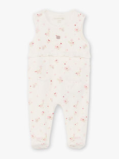 White and pink sleep suit and cardigan baby girl BONITA / 21H0NF42ENS301