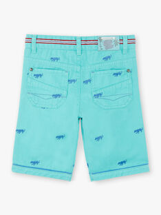 Bermuda shorts green animal embroidery ZACLUAGE / 21E3PGJ1BERG621