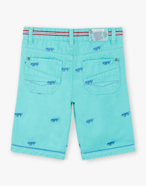 Bermuda shorts green animal embroidery ZACLUAGE / 21E3PGJ1BERG621