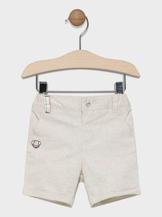 Baby boys' heather beige Bermuda shorts. SADIEGO / 19H1BG31BER080