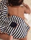 Baby boy's striped bath cape BEARNOLD / 21H5BG61CDB715