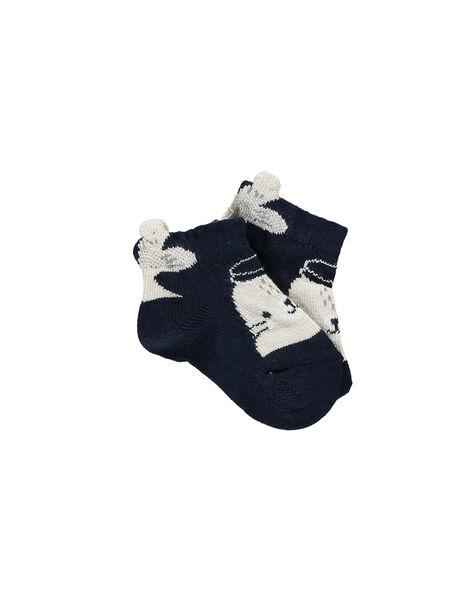 Navy Low socks RANORMAN / 19E4BGE1SOBC214