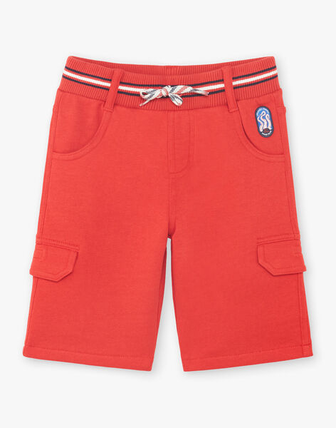 Red Bermuda shorts with pockets for boys ZINOAGE / 21E3PGT2BERF524