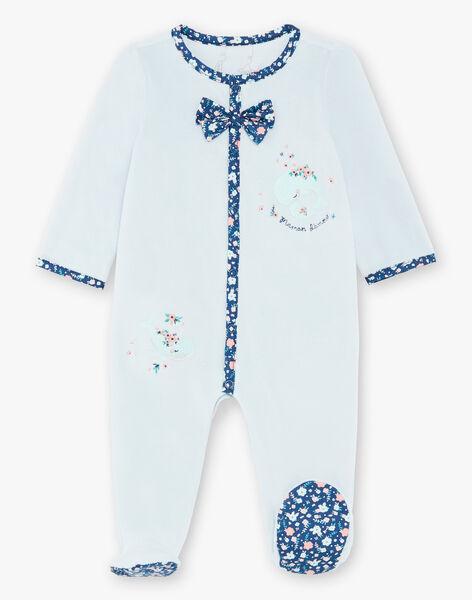 Blue velvet sleep suit ZECALYPSO / 21E5BF15GRE203