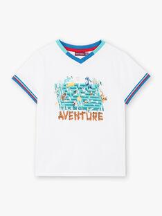 White T-shirt with animal print ZABLOAGE / 21E3PGJ1TMC000