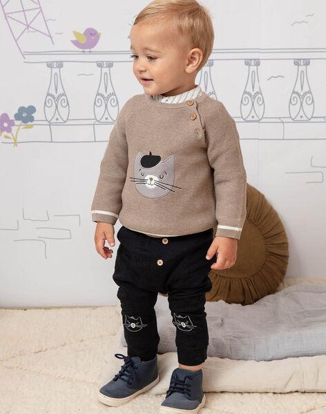Baby boy beige sweater BADAO / 21H1BG21PULA013