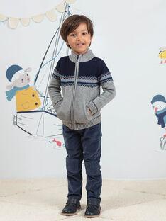 Boy's blue pants with corduroy inserts BIOLAGE / 21H3PGL2PANC230