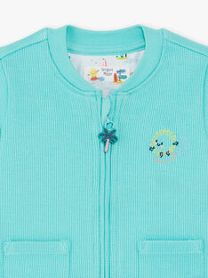 Turquoise ribbed vest ZATITOUAN / 21E1BGU1GIL202